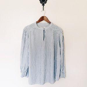 Ann Taylor LOFT Plus Striped Boho Blouse Size 22